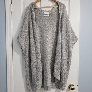 Aritzia Oversized Hooded Knit Cardigan